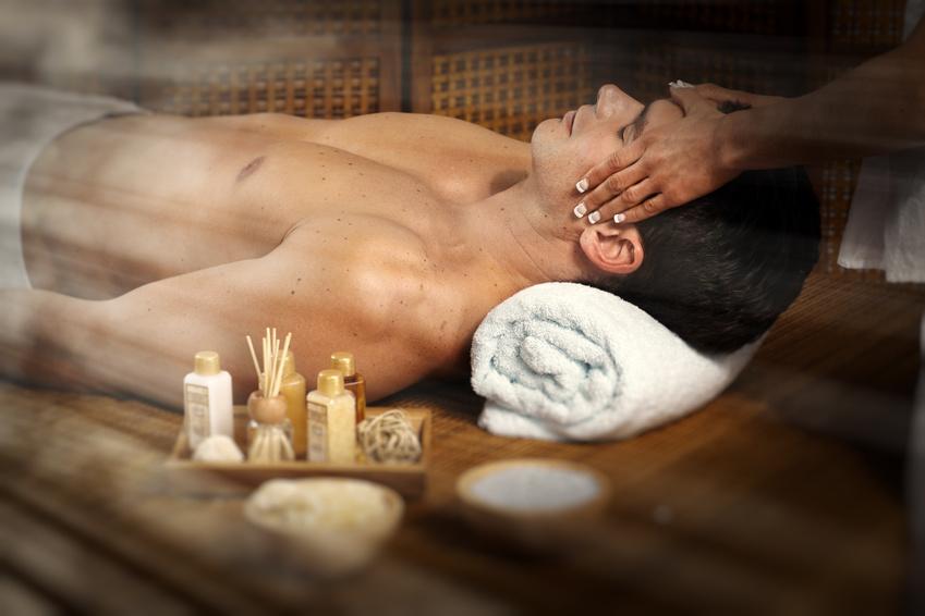 Man having massage.